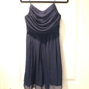 Weddington Way Navy Cocktail Bridesmaid's Dress